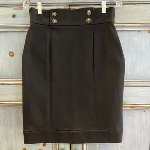 Authentic Chanel Boutique black skirt  size 44 NWT